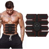 Huaze Estimulador muscular EMS, Entrenador muscular abdominal, Cinturón estimulante de abdominales EMS, Equipo inalámbrico portátil de ejercicios para hombres Mujeres