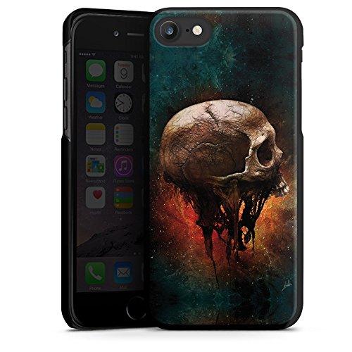 Apple iPhone X Silikon Hülle Case Schutzhülle Skull Halloween Scream Hard Case schwarz