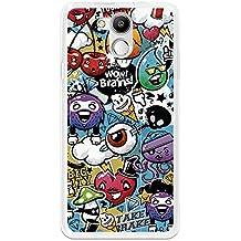 BeCool - Funda Gel Flexible Elephone P7000 Grafiti de Colores Divertido Carcasa Case Silicona TPU Suave