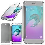 moex Samsung Galaxy A3 (2016) | Hülle Transparent TPU Void Cover Dünne Schutzhülle Silber Handyhülle für Samsung Galaxy A3 2016 Case Ultra-Slim Handy-Tasche mit Sicht-Fenster