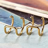 Flongo Edelstahl Ohrringe Ohrstecker Ohrclip Ohrklemme Non Piercing Fake Captive Ring Ohrpiercing Helix Cartilage Knorpel Piercing Gold Golden Herren, Damen für Flongo Edelstahl Ohrringe Ohrstecker Ohrclip Ohrklemme Non Piercing Fake Captive Ring Ohrpiercing Helix Cartilage Knorpel Piercing Gold Golden Herren, Damen