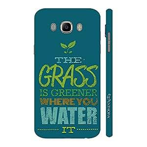 Enthopia Designer Hardshell Case Grren Grass Back Cover for Samsung Galaxy J7( 2016)