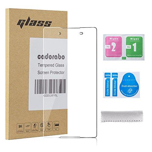 Cadorabo DE-106051 Sony Xperia Z4 Gehärtetes (Tempered) Bildschirm-Schutzglas in 9H Härte mit 3D Touch Glas Kompatibilität Transparent