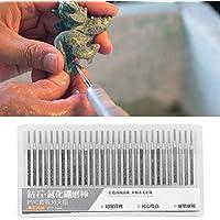 Juego de agujas de molienda, Juego de agujas de molienda Accesorios de amoladora eléctrica cilíndrica de cabeza plana Emery 1.5 mm para máquina de grabado (30 piezas)