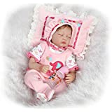 NPK Collection Reborn Baby Doll Soft Silicone 22inch 55cm Newborn Baby Doll Lifelike Vinyl Dolls Christmas Gift Set