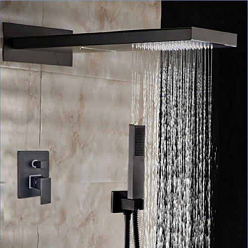 Maifeini Moderne Regendusche Kopf Öl Eingerieben Bronze Dusche Wasserhahn Tippen Einzigen Griff, Klar