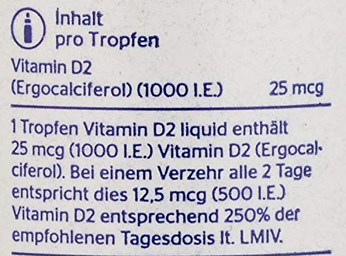 Pure Vitamin D2 Liquid 22,5 ml Tropfen