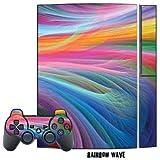 MightySkins Schutzfolie für Playstation 3 Konsole und 2 PS3-Controller, Rainbow Wave