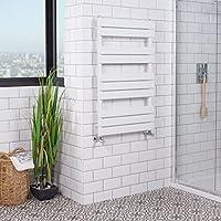 Sèche-serviettes radiateur plat design eau chaude 585 Watts 1000 x 600mm Blanc - Salle de bains