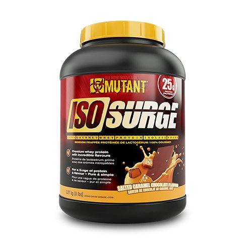 Mutant Iso Surge, 5lbs – Salted Caramel Chocolate, 2540 g