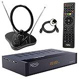 Xoro HRT 8770 TWIN Tuner DVB-T/T2 Receiver + 30 dB ANTENNE (Full HD, HEVC H.265, HDTV, HDMI, Irdeto Zugangssystem, Freenet TV, Mediaplayer, PVR Ready, USB 2.0, 12V