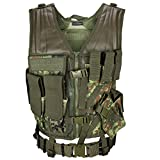 USMC Einsatzweste mit Koppel Tactical Vest Paintball Airsoft Softair Weste BlackSnake® - Flecktarn