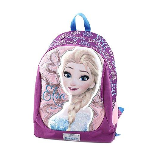 Frozen zaino superstar con grafiche e stampe personalizzate zainetto per bambini, poliestere, rosa, 46 cm