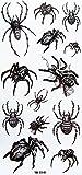MicroDeal Yimei Waterproof schwarz temporäre Tattoos Tier Spinne