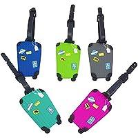 EQLEF® Etiqueta engomada colorida y linda suave del equipaje del PVC de 5 PC con el juego del patrón para todas las mujeres y muchachas