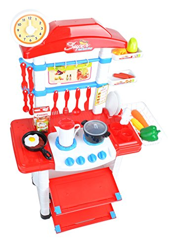 ISO TRADE Juego de Cocina para Niños con Accesorios...