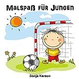 Malbuch - Jungs: Malspaß für Jungen (Erstes Malbuch, Kinder ab 2 Jahren, Jungs, malen) (German Edition)
