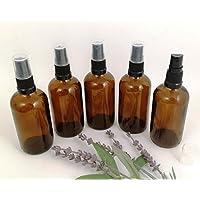 Glasfläschen mit schwarzem Zerstäuber, bernsteinfarben, ideal für Kräuterwasser, Deodorants, Haustier-Sprays,... preisvergleich bei billige-tabletten.eu