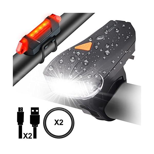 Pour Myguru Light Phare Avant Lampe Lumen Arrière Led Vtt Usb Eclairage Puissante Bike 5 Impermeable 400 Vélo Ultra Modes Lumières Rechargeable xCdorBWe
