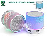 #3: WEB9T9 (Top Selling) Mini Bluetooth Wireless Speaker Compatible For Iphone 6,6S,6Plus/5S 5C 5/Ipad Air2,Mini2,Mini3/Ipad 4Th Gen/Ipod Touch 5Th Gen/Ipod Nano 7Th Gen,Multicolor