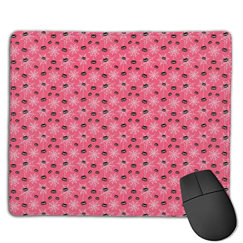 s On Hot Pink 禄 Halloween Computers Thick Keyboard Non-Slip Rubber Base Mouse pad Mat 7 X 8.6 inch ()
