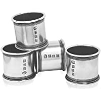 English Pewter Company – Set di 4 portatovaglioli in