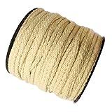 Sharplace Baumwollkordel 3mm Kordel Baumwolle Schnur 4mm Baumwollschnur Zum Basteln - Natürlich, 50 Meter