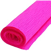 Namgiy - Rollo de papel crepé multicolor, 50 x 250 cm 50 * 250cm Rose
