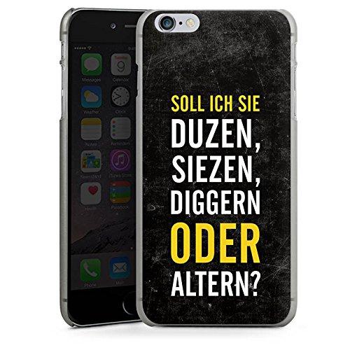 Apple iPhone X Silikon Hülle Case Schutzhülle Humor Lustig Sprüche Hard Case anthrazit-klar