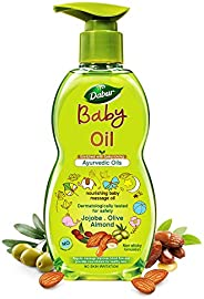 Dabur Baby Oil: Non - Sticky Baby Massage Oil with No Harmful Chemicals |Contains Jojoba , Olives & Almond