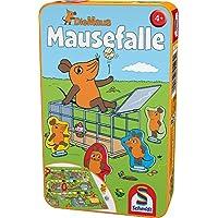 Schmidt-Spiele-51405-Maus-Mausefalle-in-Metalldose-Reisespiel Schmidt Spiele Mouse TV 51405 Maus, Mausefalle in Metalldose, Reisespiel, grün -