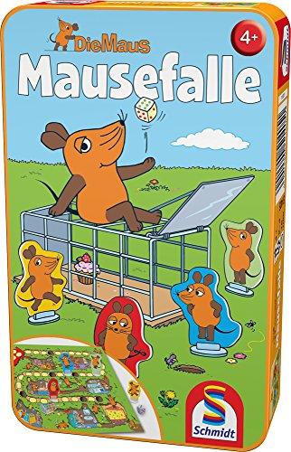 Schmidt Spiele Mouse TV 51405 Maus, Mausefalle in Metalldose, Reisespiel, grün (Tv-spiele)