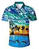 Idgreatim Männer Männer 3D gedruckt Hemden Shirt Coole Grafik Hemden Shirt Top Oktoberfest Hemd Herren