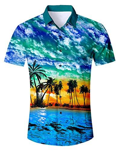 Idgreatim 3D Printed Wolf Kurzarm T Hemden Shirt Cool Graphic T Hemden Shirts für Männer Jungen Oktoberfest Hemd Herren