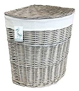 Wäschekorb, mit herausnehmbarem Innenfutter, für die Ecke