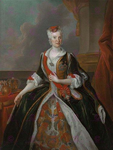 PAINTING DE SILVESTRE QUEEN MARIA JOSEPH POLAND LARGE ART PRINT POSTER LF1368