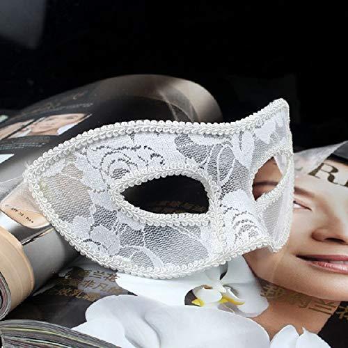 Kostüm Masquerade Maske White - Comfot Schwarze Dame Sexy Lace Mask Für Masquerade Ball Halloween Maske Party Kostüm,White