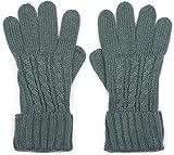 styleBREAKER warme Handschuhe mit Zopfmuster und doppeltem Bund, Winter Strickhandschuhe, Damen 09010009