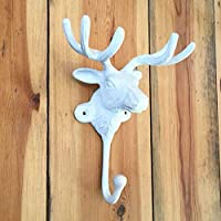 Moose Head Coat Hook Large Stag Animal Hook Towel Jewellery Storage White Decor