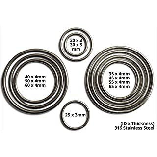 Inoxia Welded Rings, 316 Stainless Steel - Size: 55mm, Pack quantity: 1