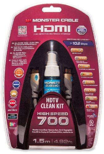 Monster 700HD HDMI Kabel Set inkl. ScreenClean Reinigunslösung (1,5m)