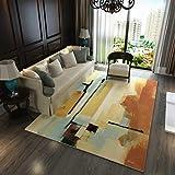 Innenteppich Area Carpets, Großer Teppich Abstract Study Room Wohnzimmer Couchtisch Teppich Schlafzimmer Teppich Design Teppich Decke,C,120 * 160cm