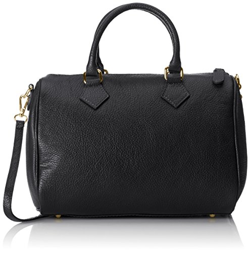 Chicca Borse, Women's Bowling Bag, Black (Nero), 30 cm (30 cm)