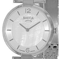 Boccia B3238-03 - Reloj de cuarzo para mujer, con correa de titanio, color plateado de Boccia