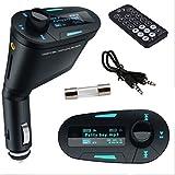 zantec Auto Kit MP3Musik Player Wireless FM Transmitter Radio Modulator mit USB MMC + Fernbedienung blau
