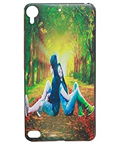 Jkobi Fashionable Printed Designed Hard Shell Back Cover For HTC Desire 630 -Love Couple