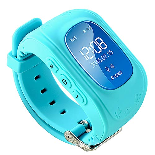 CH-JIE Smart Watch Neu, für Kinder Kind SIM Smartwatch, SOS Call GPS-Verfolger Remote-Monitor Anti-Lost Finder Voice Chat - für Android und Ios