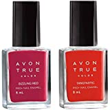 Avon Anew True Color Nail Wear Pro+ Nail Enamel (set of 2) sizzling red - tangastic