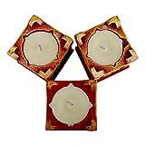 Radha Krishna Creations Multicolor Terracotta Material Tulsi Diya (Set of 3)