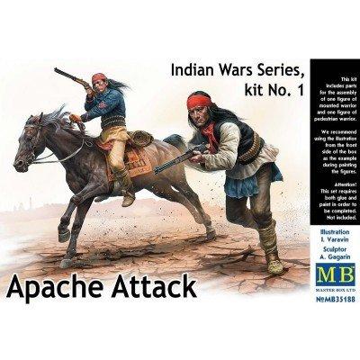 Master Box Ltd. MB35188 Figuren Apache Attack,Indian Wars Series,kit No1